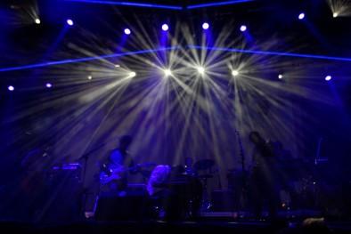 Broken Bells brillando el jueves en el Escenario Verde. Foto: Óscar L. Tejada para fiberfib (también la de portada).