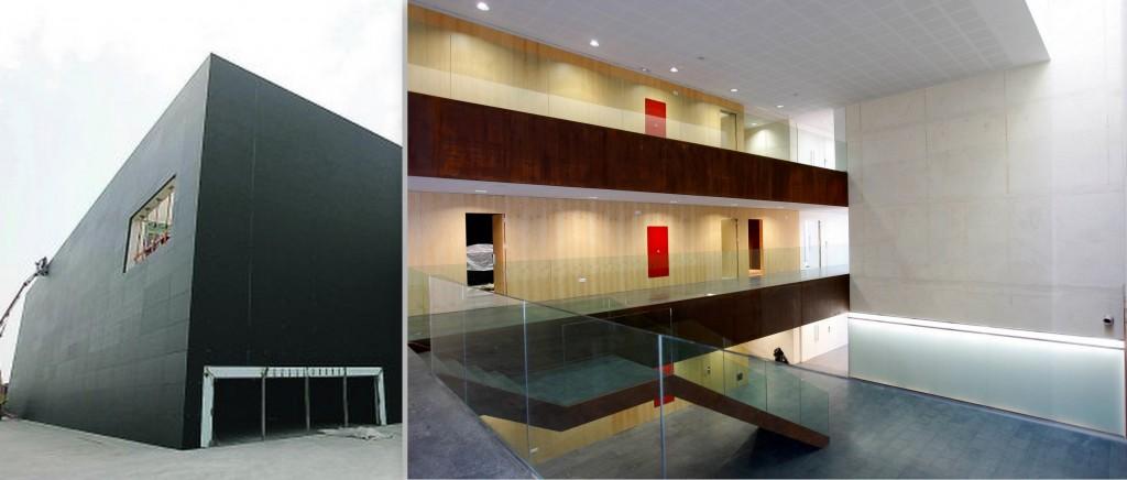 Exterior e interior del nuevo Paranimf de la Universitat Jaume I. Foto derecha: Pau Bellido.