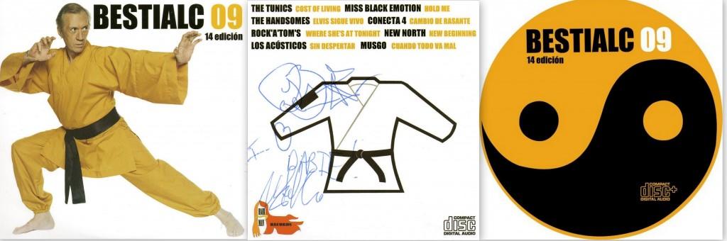 Portada del recopilatorio del Bestialc 09 firmada por Joe Blanks y Joe Castello, de The Tunics.