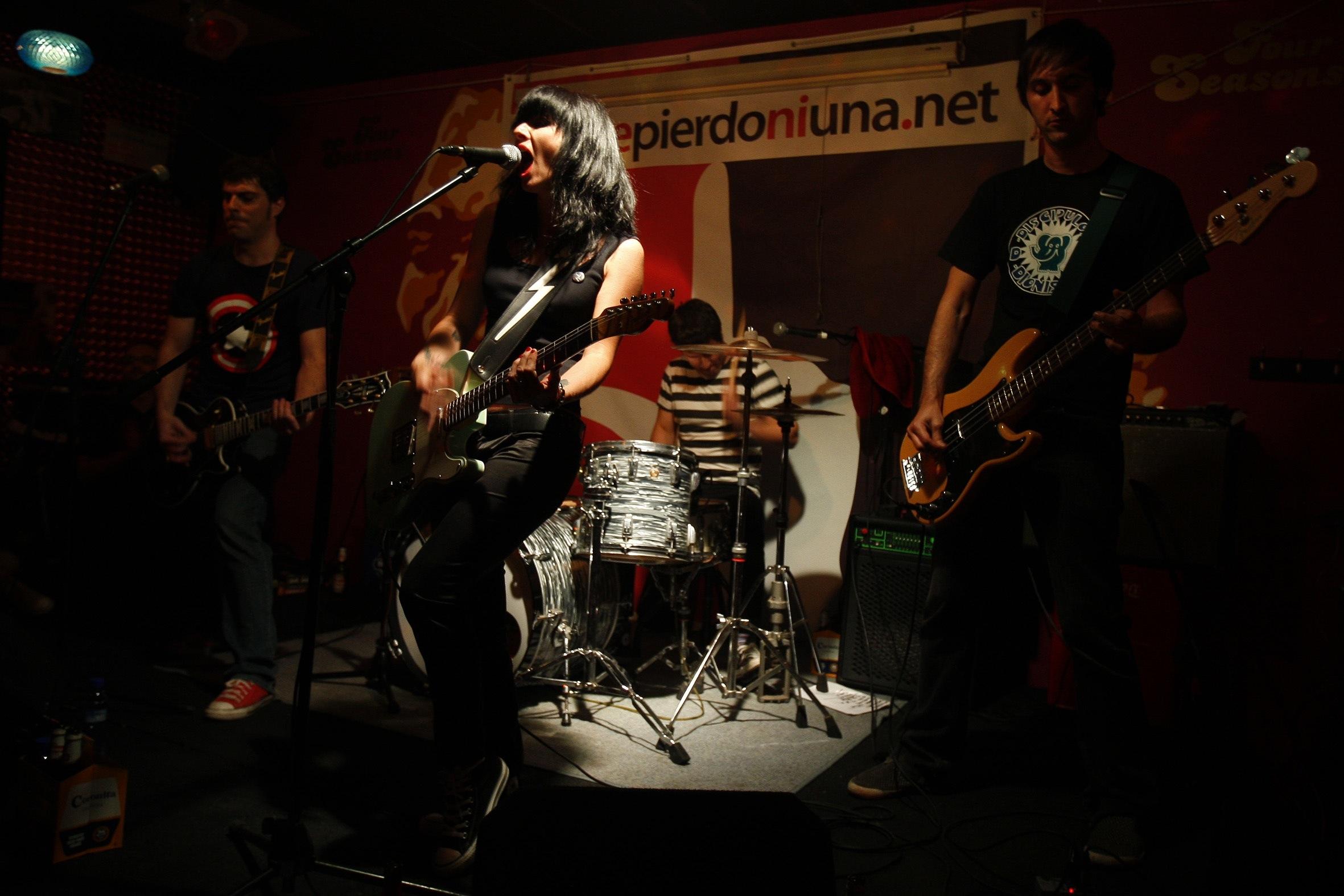 Luis, Patrizia, Tomás y Daniel. Imposible cerrar mejor la fiesta. Foto: Pau Bellido.