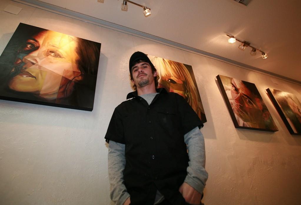Nacho Puerto, el pasado viernes, durante la inauguración de la exposición en la sala Disseny i Art.