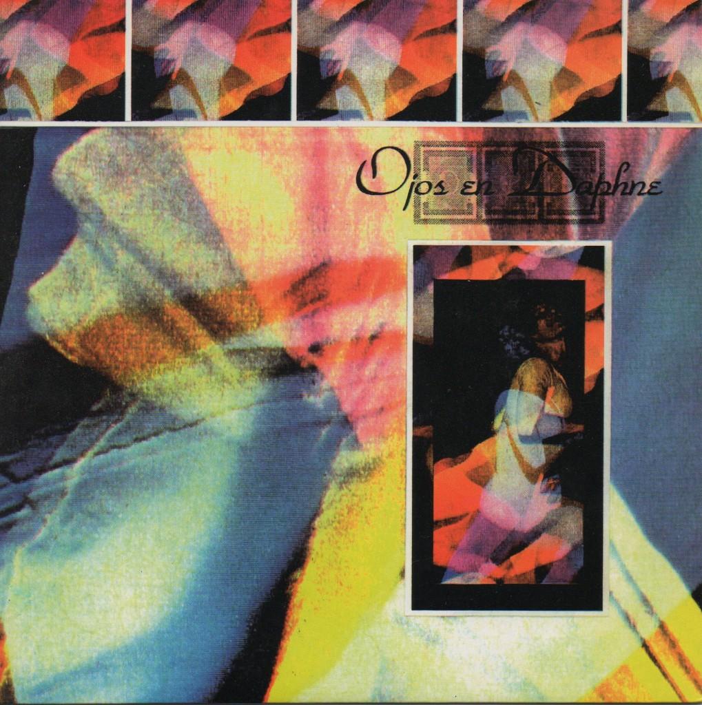 Portada del single de Ojos en Daphne 'Los colores de mi habitación', editado por Jabalina en 1994. Diseñada por Mario y el recientemente fallecido Cocó, por entonces Silvania.