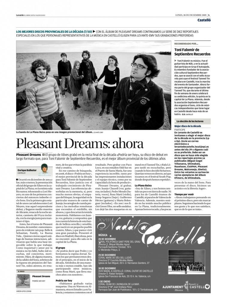 Pleasant Dreams: 'Podría ser hoy' (Green Ufos, 2008) - Septiembre Recuerdos