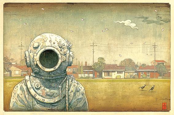 Una de las ilustraciones de Shaun Tan en 'Tales From Outer Suburbia'.