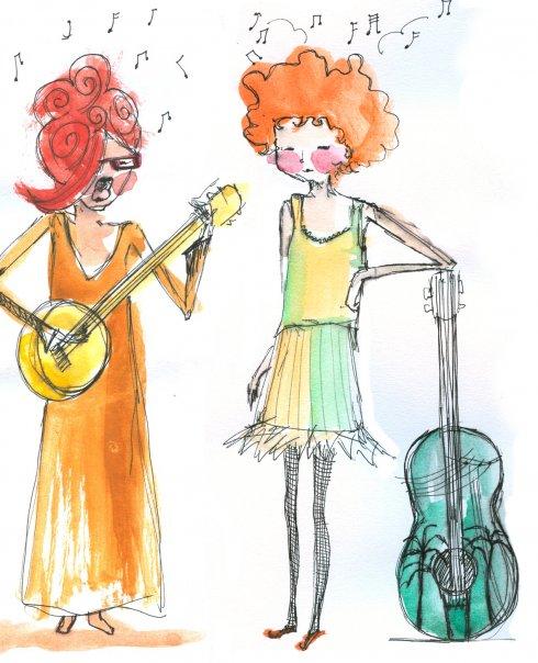 Victoria Williams y Simone White, según la ilustradora Verónica Fabregat.