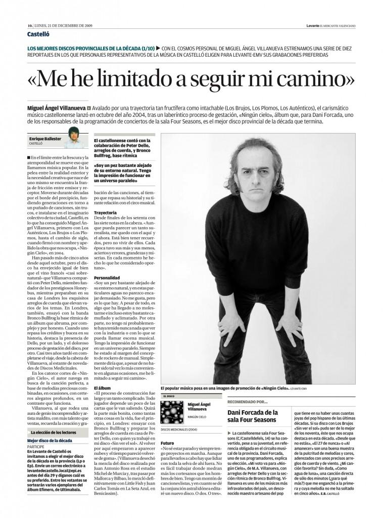 Miguel Ángel Villanueva: 'Ningún cielo' (Medicinales, 2004) - Four Seasons